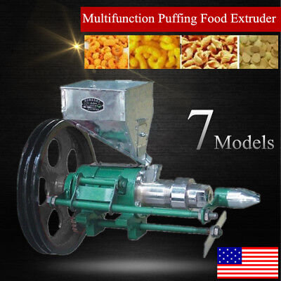 Multifunctional corn extruder automatically cut off Puffed Food Corn Puffing USA