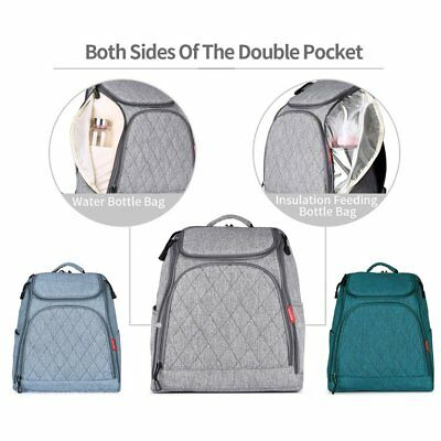 Diamond Pattern Mommy Backpack Baby Diaper Backpack Stroller Hanging BP 4