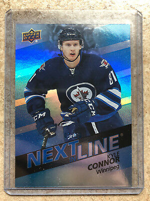 16-17 UD Overtime Next In Line #NL-10 KYLE CONNOR Blue Parallel /10