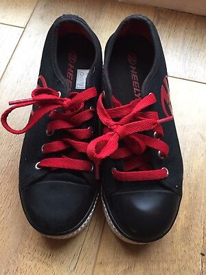 Heelys shoes size UK 3 black - red -white. Immaculate condition. Worn once
