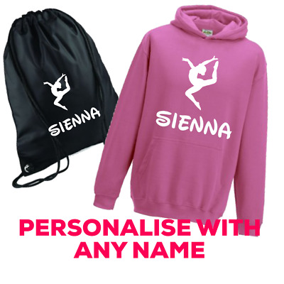 Personalised Dancers Gymnast Girls Bag And Hoodie Any Name Great Present