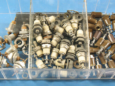 "1 Lot: 17pcs Ceramic Insulated Turret Terminals 3/4""H & 6-32 Male Thread"
