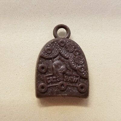 Vintage CAT'S PAW brand miniature brown Shoe Heel CHARM gumball vending prize