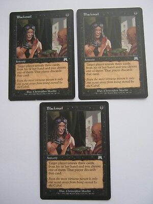 3 x Blackmail - Onslaught - Magic The Gathering Cards - MTG