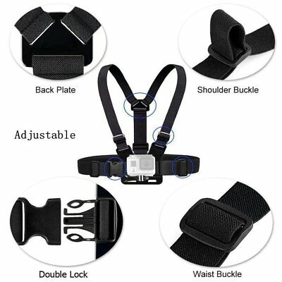 Adjustable Chest Body Strap Mount Harness Belt for Gopro Hero 2/3/3+/4/~ES