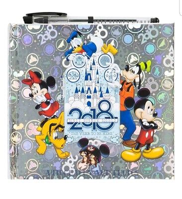 Walt Disney World Parks 2018 Silver Autograph and Photo Book with Pen NEW SEALED