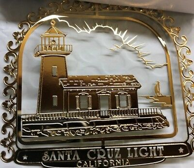 Santa Cruz,  National Treasures 24k gold finish Brass,  Christmas Ornament (1)