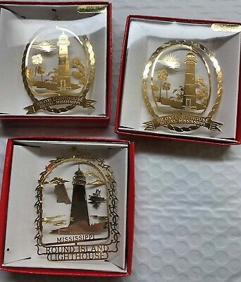 Mississippi,  National Treasures 24k gold finish Brass,  Christmas Ornament (3)