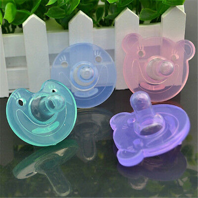 Newborn Kids Baby Orthodontic Dummy Pacifier Silicone Teat Nipple Soothers FBCA