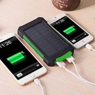 Waterproof 50000mAh Solar Power Bank Battery Charger For iPhone For Samsung USA