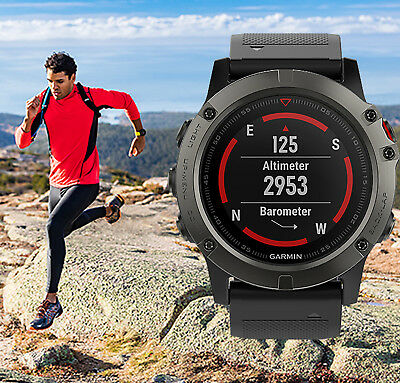 Garmin fenix 5X Sapphire Multisport GPS Watch | Black Band | BRAND NEW