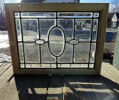 Small Antique Beveled Glass Window 18 By 24