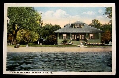 WALTER COOK Private Residence cottage House, WINONA LAKE, IN IND Indiana 1919