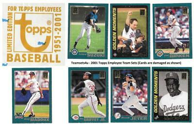 2001 Topps Employees (Snow Damage) Baseball Team Sets ** Pick Your Team Set **