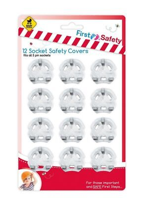 12 Home Safety Plug 3 pin Socket Covers Baby & Child Proof Protector Guard