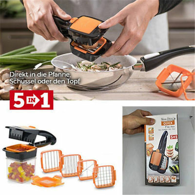 5 In 1 Multifunctional Dicer Quick Magice Cutter Vegetables Fruit Dicer