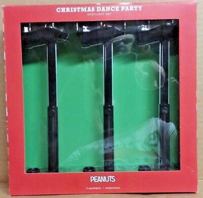 Nib 2017 Hallmark Christmas Dance Party Spotlight Set Peanuts Stage Lights New