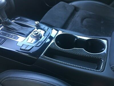 Carbon Cover Mittelkonsole Getränkehalter Audi A4 S4 B8 A5 S5 RS4 RS5 Blende