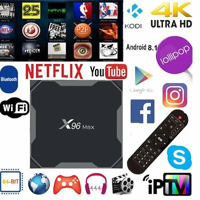 X96 Android  16 Android 8.1 4K Smart TV Box 64bit Quad Core CPU NEW