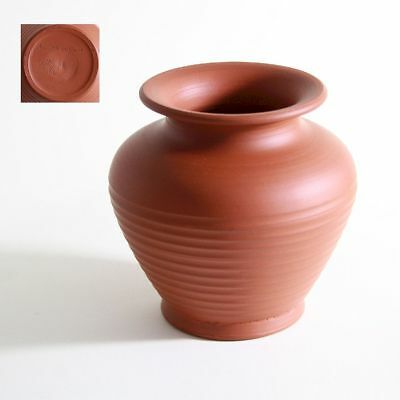 NS GERMANY | A grooved Germanic handmade stoneware vase (ca 1930/40)