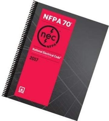 NFPA 70, (NEC) National Electrical Code Spiralbound 2017 Edition Free Shipping