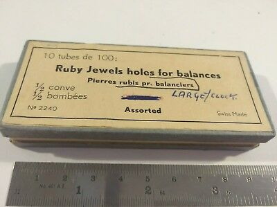 Ruby Jewel Holes For Balances Large For Vintage Clocks Parts For Clock Makers