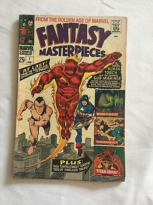 Fantasy Masterpieces #7 The Human Torch With Submariner Marvel 1967