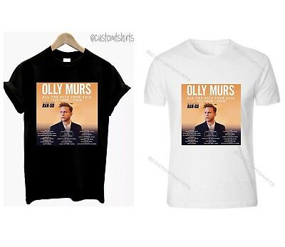 OLLY MURS TSHIRT YOU KNOW I KNOW TOUR TOP - Black/White - HIGH QUALITY TOP