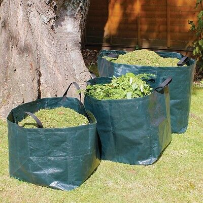 Garden Waste Recycling Bags / Refuse Sacks Heavy Duty With Handles 70L
