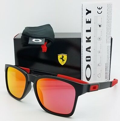 160d4db3e0 NEW Oakley Catalyst Ferrari Black Prizm Ruby Limited Red 9272-07 AUTHENTIC  9272