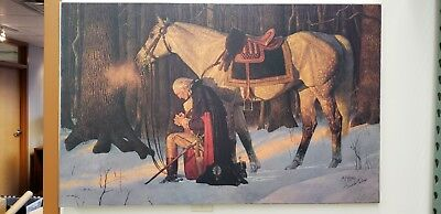 prayer at valley forge limited edition canvas by arnold friberg