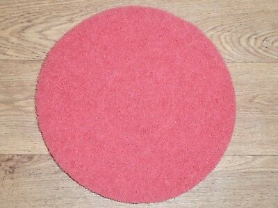 5 - RED 10 inch Scrubber Pads. An absolute steal at only £9.95. Free Postage.