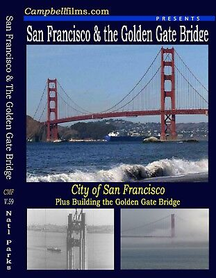 Building Golden Gate Bridge & Old San Francisco old Films 1930's 40's DVD