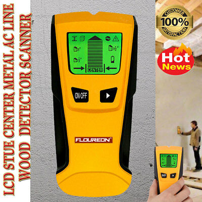 3In1 Wood Detector Wall Stud Scanner Center Finder Metal Ac Live Wire Led Th-210