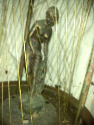 Vintage Mineral Oil Rain Hanging Lamp Nude Goddess Light Works 1960s  As-Is