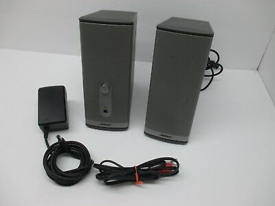 Pair of BOSE Companion 2 Series II Multimedia Speakers System TESTED w/Cords +AC