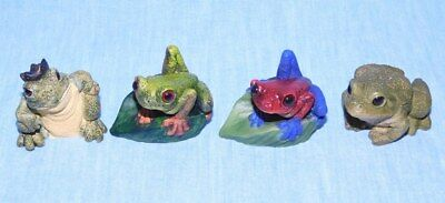 4 Small Frog Figurines