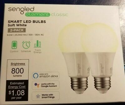 Sengled - Element Classic A19 Smart LED Light Bulb (2-Pack)