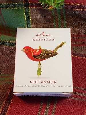 "Hallmark Keepsake 2018 Mini Red Tanager Ornament 1.13"" Beauty of Birds miniature"