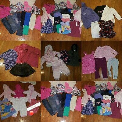 Toddler Girl*37 PC Clothes Lot 6-18 Month Baby Girl 6-18 Mos fall winter + 18-24