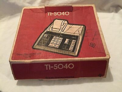 VINTAGE Texas Instruments TI-5040 Electronic Printing Calculator in BOX