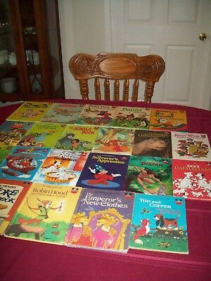 Lot 21 Hardcover Books Disney's Wonderful World of Reading Mix Vintage and New