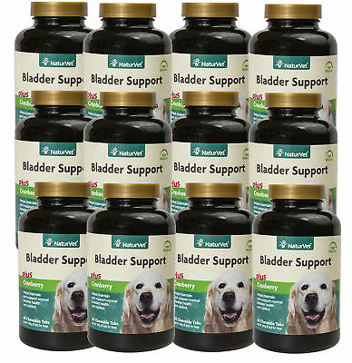 NaturVet Senior Dog Natural BLADDER SUPPORT with Cranberry 60 Tablets 12 PACK