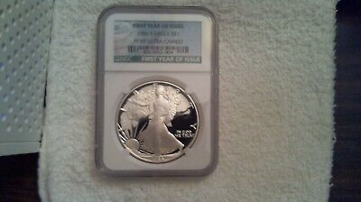 1986 S Graded Silver Eagle Proof NGC PF69 Ultra Cameo GREEN LABEL $80.00 NGC VAL