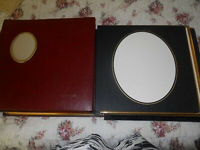 Two Burgundy Gold leaved pages Used Photo Albums