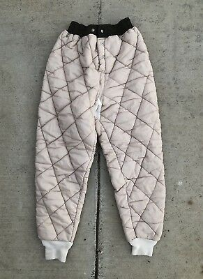 Vintage 60s 70s Quilted Liner Pants diamond bottoms trousers