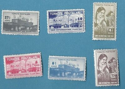 "TURKEY - 1943 MINT -  ""Izmir International Fair"" - FULL SET !! - BID NOW !!!"