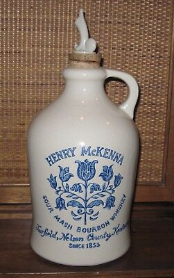 Henry McKenna Bourbon Whiskey 1/2 Gallon Crock with Pouring Spout