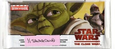 1-2009 Topps Widevision Star Wars The Clone Wars 1/1 Sketch Card Hot Pack