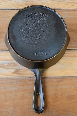 "Vintage No.4 Wagner Ware Heat Ring Cast Iron Skillet 7"" 1054 RESTORED Nice Rare"